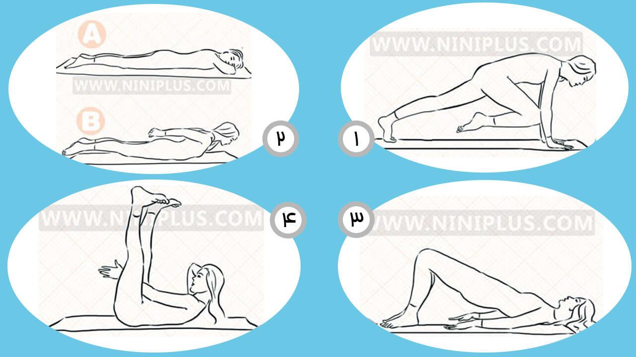 کوچک کردن شکم پس از زایمان با تمرینات یوگا