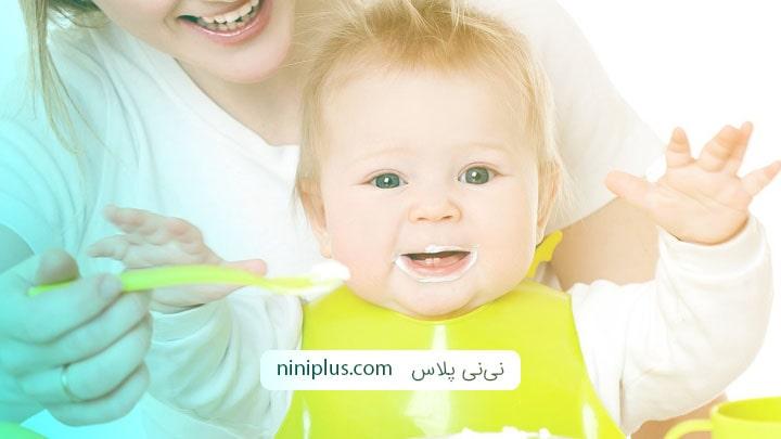 غذای بچه پنج ماهه شامل چه موادی می تواند باشد؟