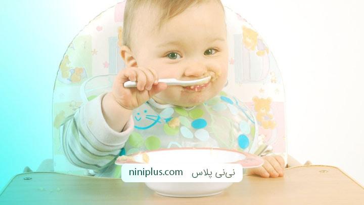 دستور پخت غذای کمکی برای نوزاد زیر یکسال