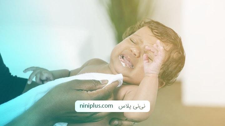 آرام کردن نوزاد مبتلا به رفلاکس گوارشی