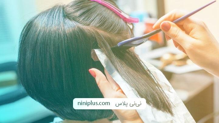 رنگ کردن موها در بارداری