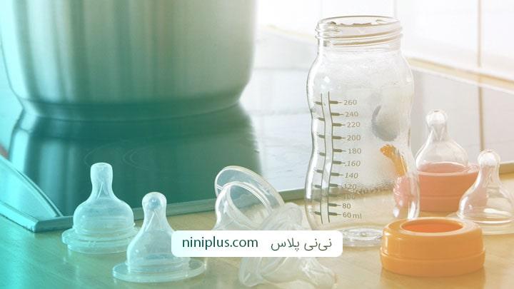 روشهای کاربردی برای استریل کردن شیشه شیر نوزاد