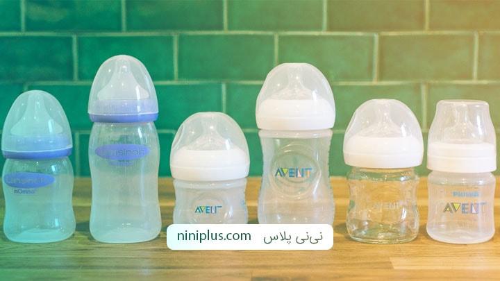 انتخاب بطری شیر مناسب برای نوزاد (بطری از جنس پلاستیک یا شیشه)