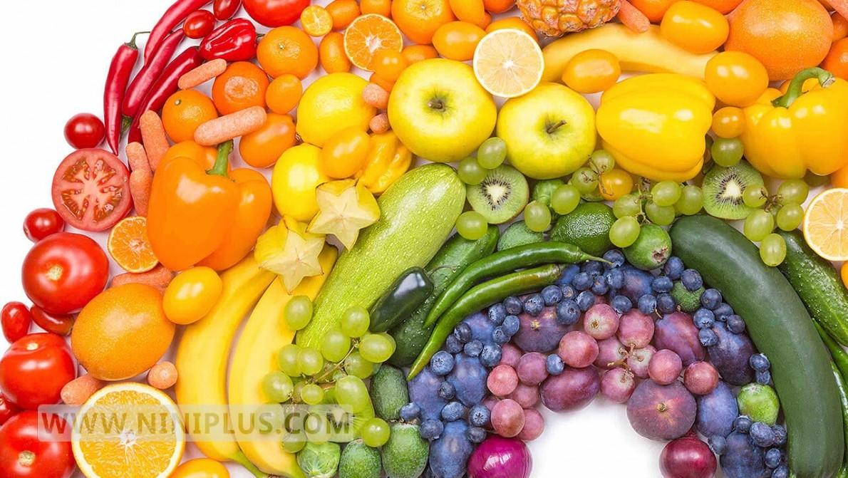 از رژیم غذایی رنگارنگ پیروی کنید نی نی پلاس
