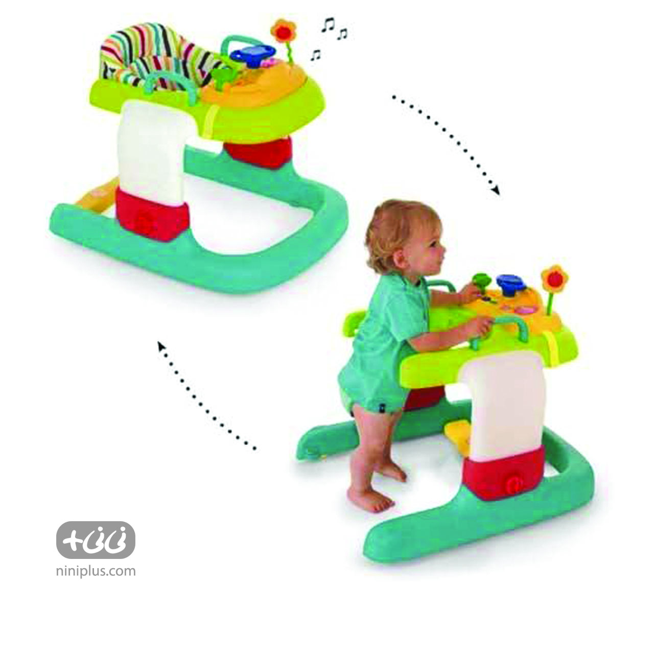 پارک واکر هاوک مدل 2in 1 Walker Stripe