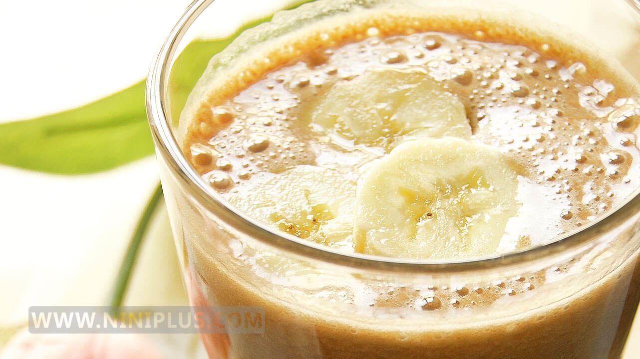 اسموتی موز و کاکائو (نوشیدنی مقوی از كلسيم،منیزیم و فولات مناسب بارداری)