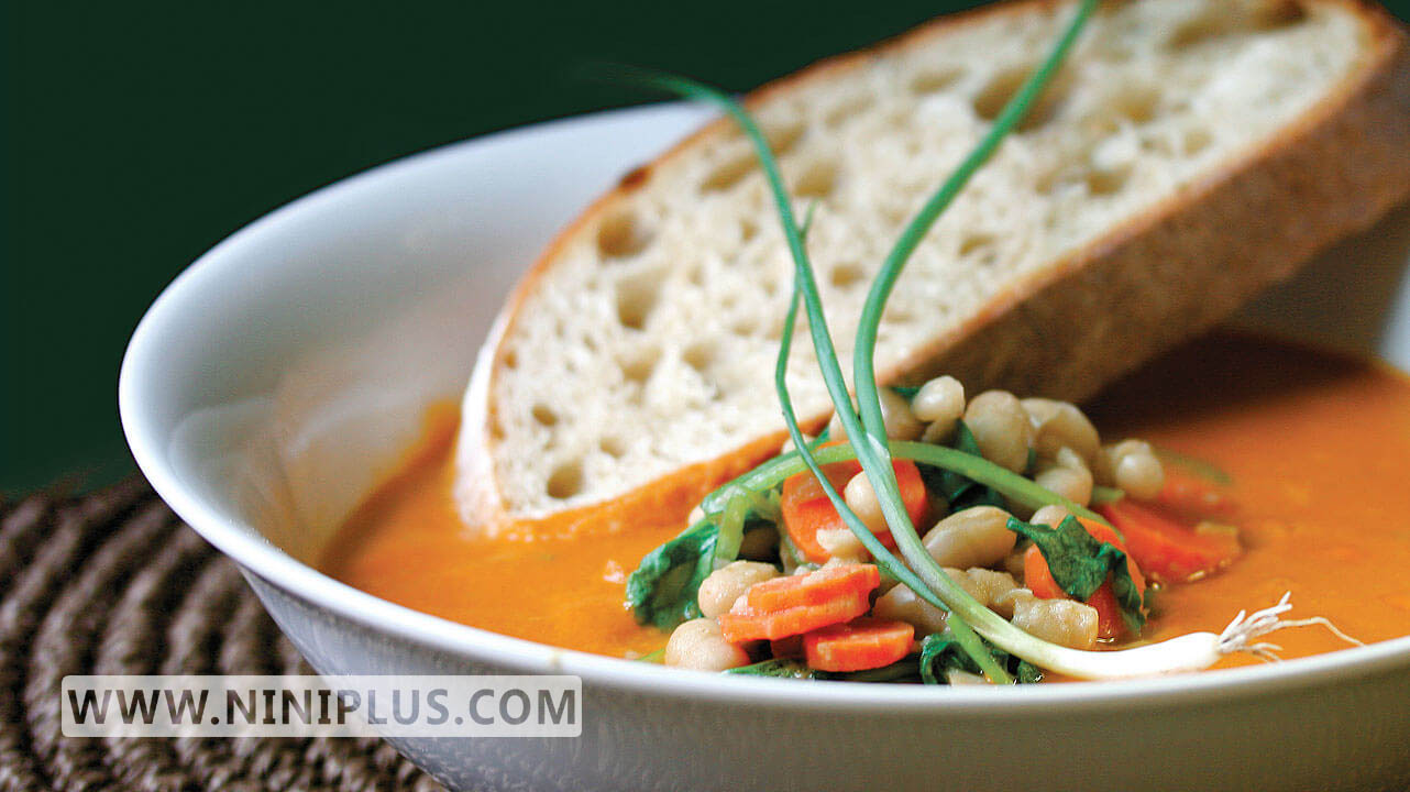 دستور پخت سوپ لوبیا سفید (منبع کمچرب پروتئین و فیبر )