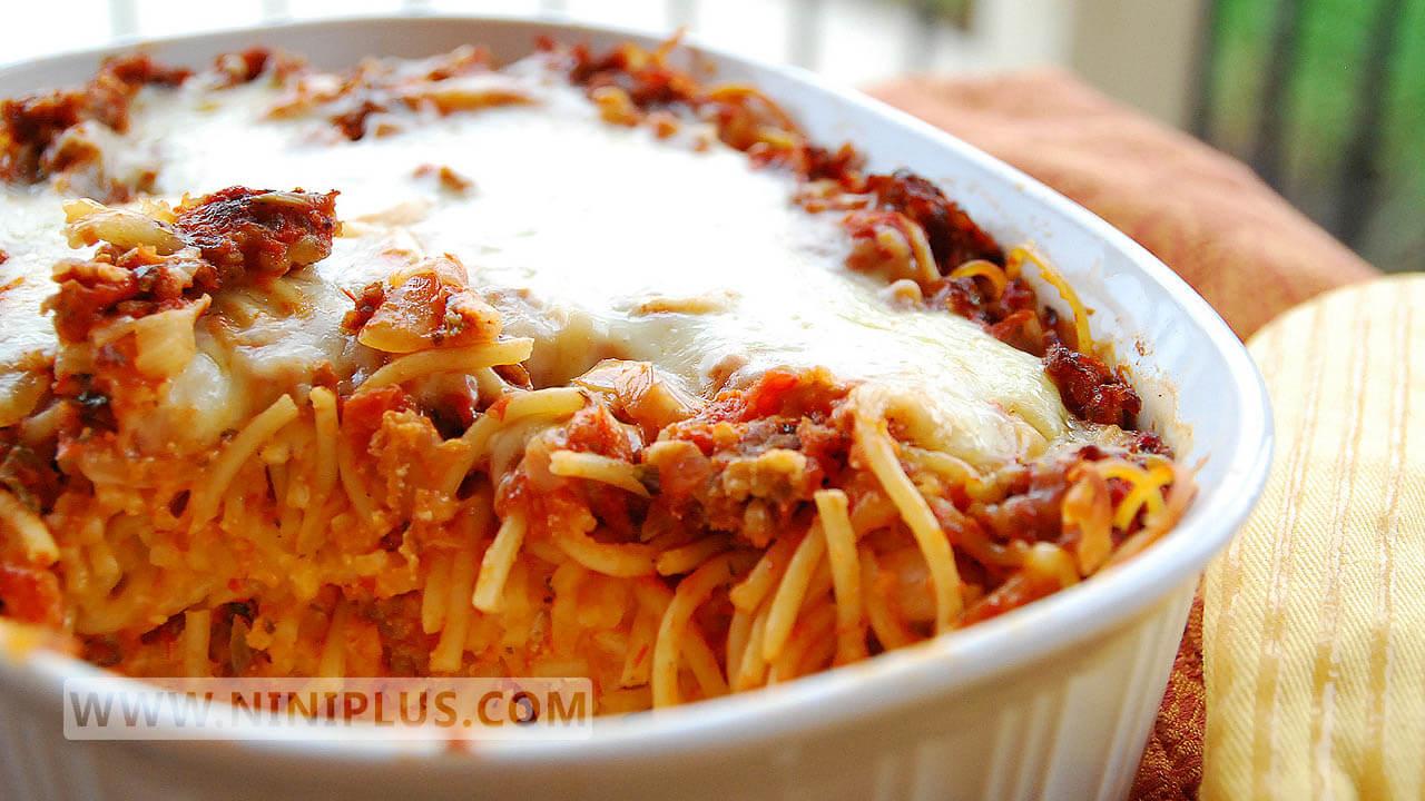 دستور پخت بیف اسپاگتی