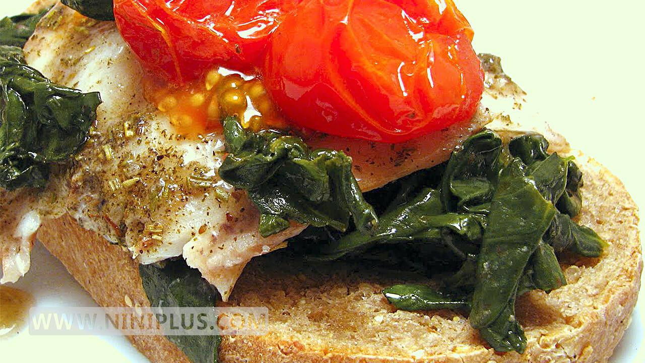 دستور پخت فیله ماهی مدیترانه ای منبعی سرشار از ویتامین C و پروتئین