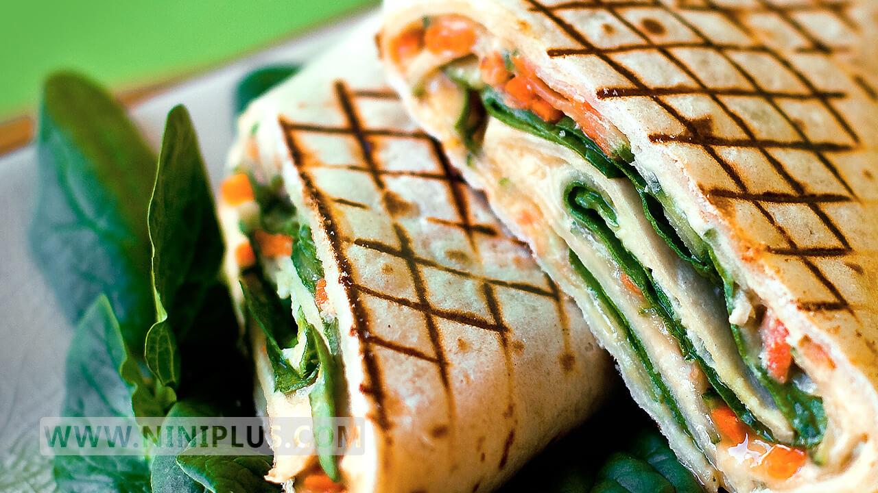 دستور پخت ساندویچ اسفناج و هویـج (بمب سبزیجات)