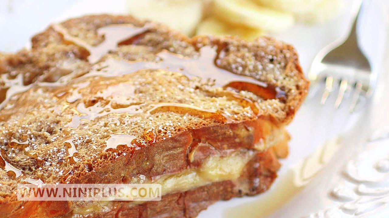 دستور تهیه تست موز فرانسوی (دسر غنی از آهن،پروتئین، کلسیم)