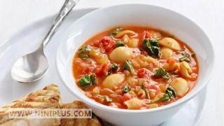 سوپ مدیترانهای پاستا نی نی پلاس