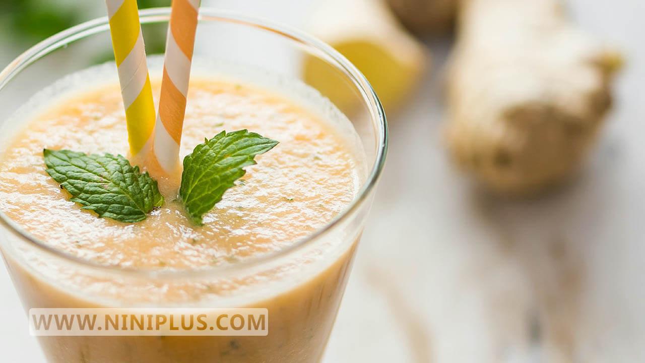 نوشیدنی سرشار از ویتامین C و بتاکاروتن (طالبی و زنجبیل)