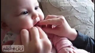 شیرخوردن و دندان درآرودن نی نی پلاس
