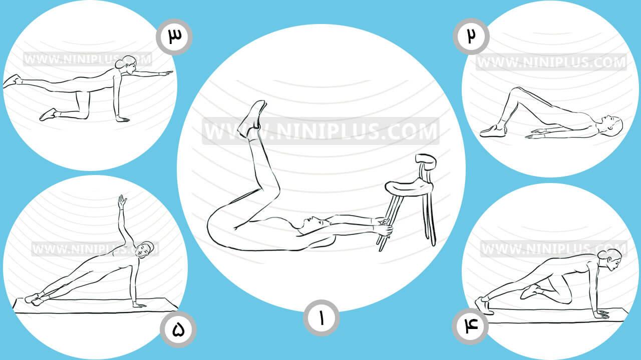 5 تمرین کوچک کردن شکم پس از زایمان
