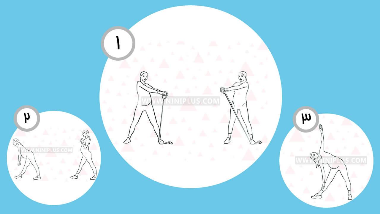 تمرینات ورزشی برای کاهش کمر درد در دوران بارداری