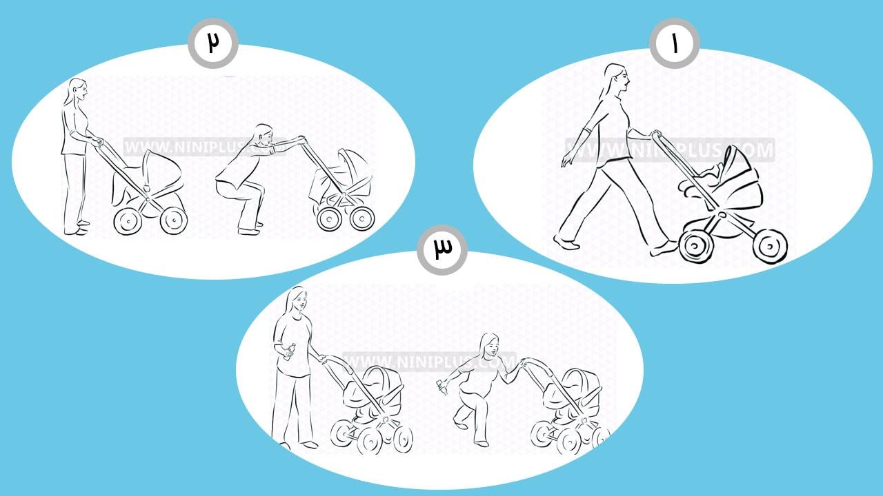 تمرینات ورزشی با کالسکه نوزاد