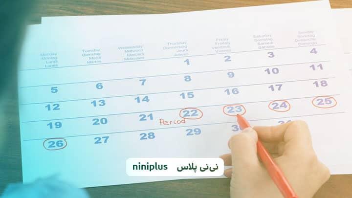 چند روز از عادت ماهانه بگذره احتمال بارداری هست؟